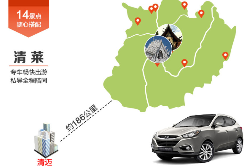 【畅游包车】清迈-清莱专车私导服务