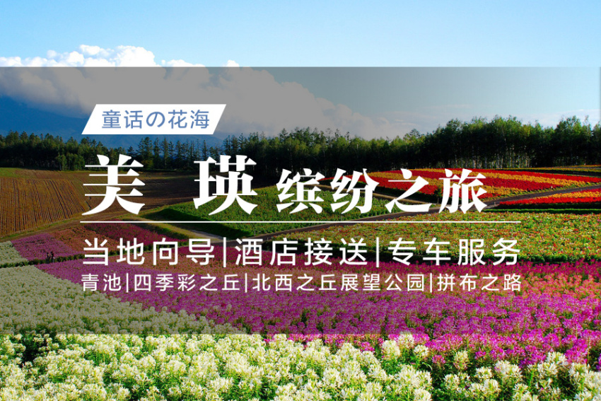 【生如夏花】缤纷美瑛:青池+四季彩之丘+北西之丘展望公园+拼布之路<札幌出发>