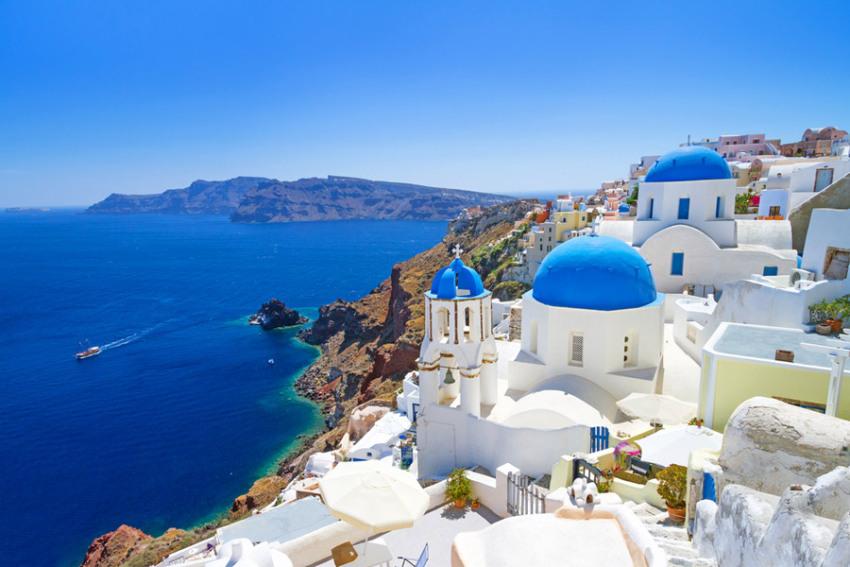【10天希腊全景深度游】那一抹令人心动的蓝:雅典古建筑巡礼+梦幻天堂米克诺斯岛+浪漫圣托里尼岛+鲜花遍地克里特岛