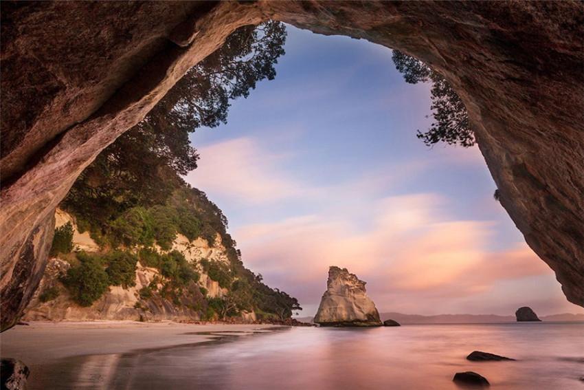 【司导推荐路线】新西兰科罗曼多一日游:大教堂湾+热水海滩+米兰达候鸟栖息滩