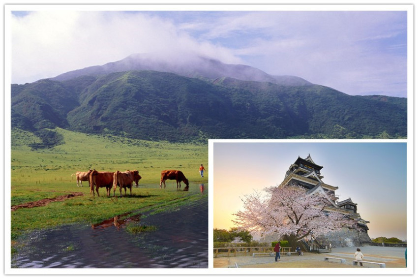 【阿苏熊本二日游】自然人文:天空之道+阿苏+熊本城+樱之马场彩城苑