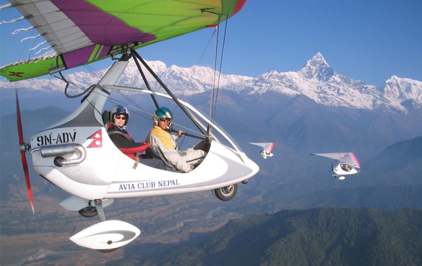 【特色项目】博卡拉动力滑翔机体验